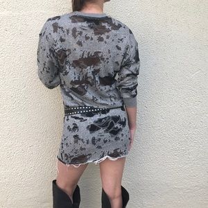 KENDALL + KYLIE. Deconstructed Terry Tunic Dress